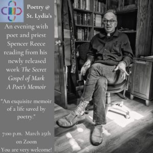 Poetry @St. Lydias—An Evening with Poet & Priest Spencer Reece